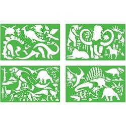 Quercetti 02605 - Gioco Stencils Dinosaurs