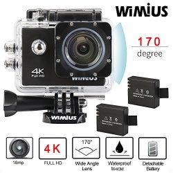 Wimius 4K Action Cam WIFI WebCamera Full HD 1080P...