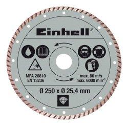 Einhell - Dischi di taglio diamantati, 250 x 25,4...