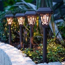 Set di 4 luci da giardino a lampione vittoriano...