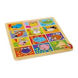 Puzzle ad incastro «Animali e numeri»