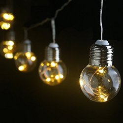 LE Stringa luminosa 6m 25 lampadine LED G45,...