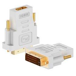 DVI su HDMI, Rankie 2 Pack Placcato Oro 1080P DVI...
