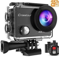 Crosstour 4K Action Cam WIFI 16MP Impermeabile...
