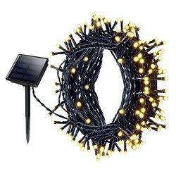 Solar Fairy Lights, Mpow 200LED impermeabile ad...