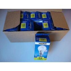 LAMPADINE ALOGENE E27 230V 72W confezione da 10...