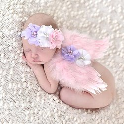 EQLEF Bella Baby Angel Feather Butterfly Wings...