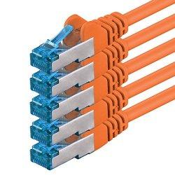 1,5m - arancione - 5 pezzi - Rete Cavi Cat6a |...