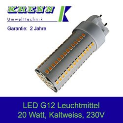 KRENN LED Lampadina G12, 20 Watt, 230V, base...