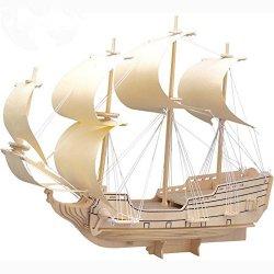3D Puzzle di Legno Vela Militare Nave Eagle...