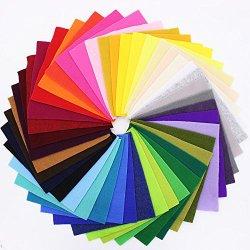 42 Colori Feltro in Fogli DIY Tessuto Poliestere...