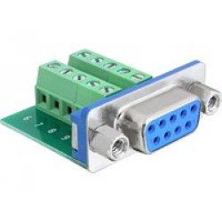 DeLOCK 65268 Sub-D 9 pin Terminal block 10 pin...
