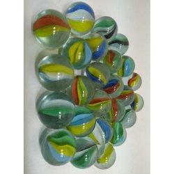 Vetrineinrete/® Biglie di Vetro Colorate 100 Pezzi a Sfera Multicolore in Retina con biglia Grande per Giocare 00697 A112