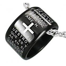 The Lords Prayer - Pendente a forma di anello con...