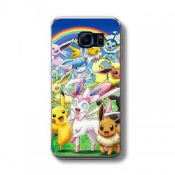 POKEMON CHARACTERS RAINBOW Rubber Phone Case FITS...