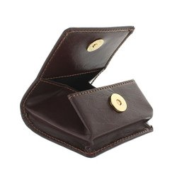 Portamonete di pelle Visconti 421 Marrone