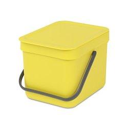 Brabantia Sort & Go Pattumiera, 6 l, Yellow
