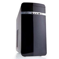iTek Otto Midi Tower Matx Case per PC, Nero