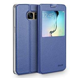 doupi Deluxe FlipCase con Finestra Samsung S7,...