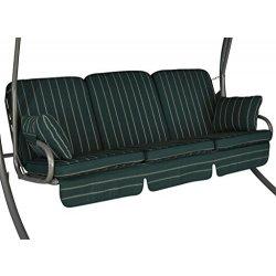Cuscini per dondolo Comfort 3 posti Faro verde