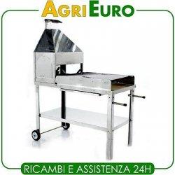 Barbecue a legna con cappa AgriEuro INOX 430 con...