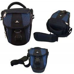 Case4Life Nero / Blu Nylon Fotocamera Reflex...