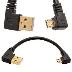 USB 2.0 a Micro USB B Oro cavo ad angolo retto...