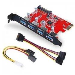 Inateck KTU3FR-4P 4 porte PCI Express card...