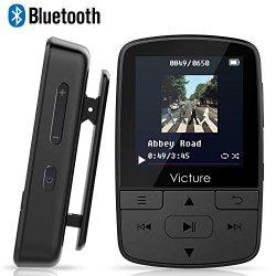 Victure Lettore MP3 Bluetooth con Clip 8GB MP3...