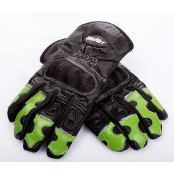 WinNet guanti da moto in pelle e cordura con...
