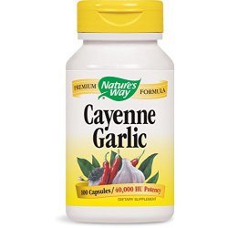 Natures Way Cayenne and Garlic 530 mg 100 Capsules