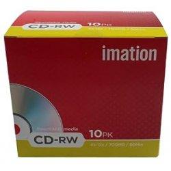 Imation i19002 Confezione da 10 CD-RW, 700 Mb,...