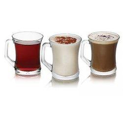 BRAND NEW SET OF 6 TEA COFFEE CAPPUCCINO GLASS...