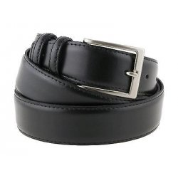 Cintura elegante pelle nera da cerimonia 3,5cm da...
