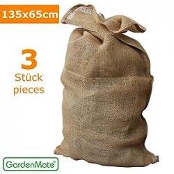GardenMate® 3x Sacchi di Juta naturale 135 x...