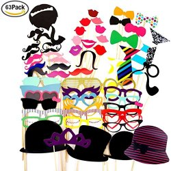 Foonii 63pcs photo booth props Accessori fai da...
