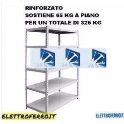 SCAFFALE METALLO KIT Bulloni 5 Ripiani 100 x 40 x...