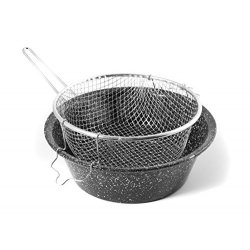 CERIANI Friggitrice ferro/porcellana con cestello...