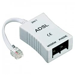 Hama Filtro ADSL, Spina Jack, 2 Prese Jack 6P 4C,...