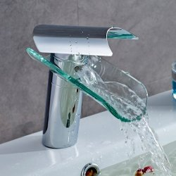 Auralum vetro rubinetto del lavandino vanità...
