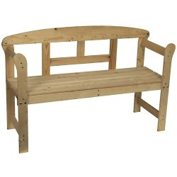 Panchina da giardino in legno