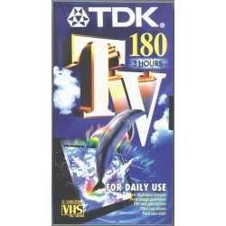 TDK E 180 TV Video cassette - Confezione da 1
