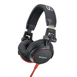 Sony MDR-V55 Cuffie DJ, Nero/Rosso