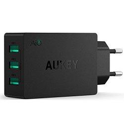 AUKEY Caricatore USB da muro portatile a 3 porte...