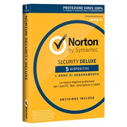 Norton Security Deluxe 2018 - 5 dispositivi, 1...