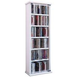 VCM 21027 - Torre porta CD/DVD, in legno e vetro,...