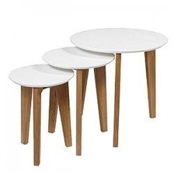 AC Design Furniture, Set di tavolini, Bianco...