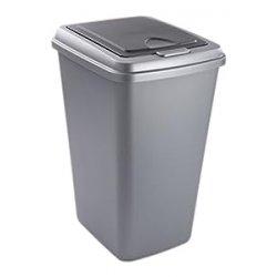 Rotho, Secchio per la spazzatura 422208F850 Abfalleimer Touch 50 L, Grigio (Grau)