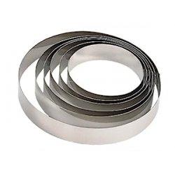De Buyer 3989.10 - Cerchi per pasticceria in acciaio INOX, altezza 4,5 cm, diametro 10 cm
