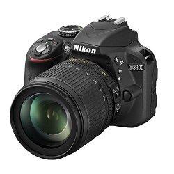 Nikon D3300 Kit Fotocamera Reflex Digitale con Obiettivo Nikkor 18/105VR, 24.2 Megapixel, LCD 3